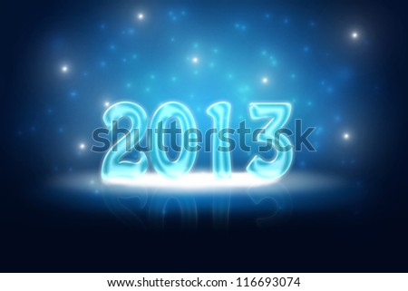 Silvester background for your designs in blue with snowflakes - stock photo
