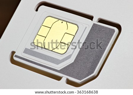 SIM card - stock photo
