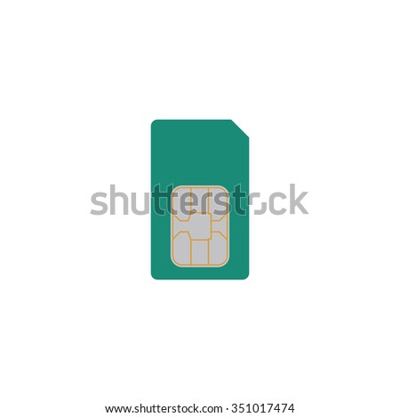 Sim card. Colorful pictogram symbol on white background. Simple icon - stock photo