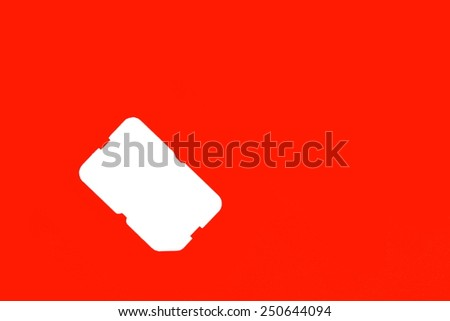 Sim Card Holder - stock photo