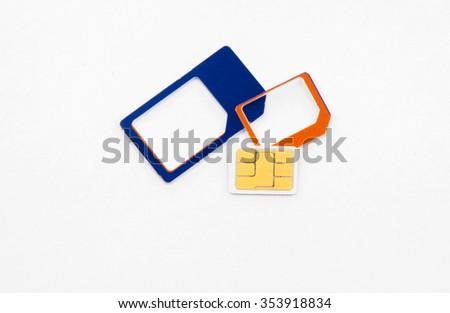 sim card standard micro nano adapter - stock photo