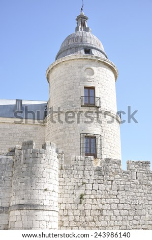 Simancas Castle (built in the fifteenth century) is located in the town of Simancas, province of Valladolid, Castile and Leon, Spain. - stock photo