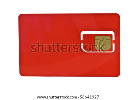 Simcard isolated on white background