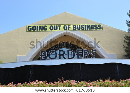 SIMI VALLEY, CA - JULY 27: After filing for bankruptcy in February 2011, Borders is having a going out of business sale in Simi Valley, CA