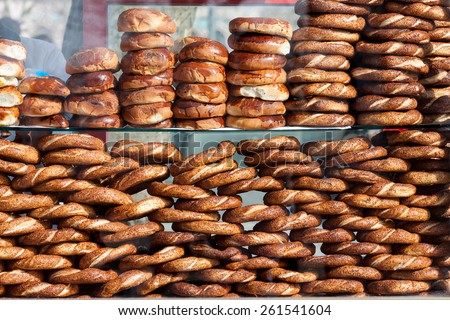 Simit and other bakery - stock photo