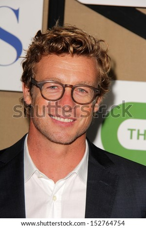 Simon Baker at the CBS, Showtime, CW 2013 TCA Summer Stars Party, Beverly Hilton Hotel, Beverly Hills, CA 07-29-13 - stock photo