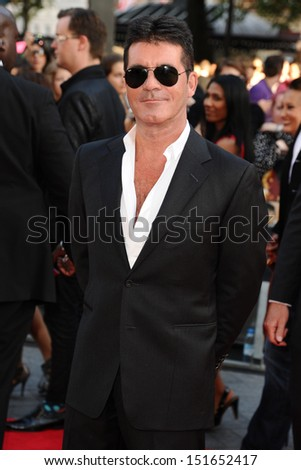 "Simon Cowell arriving for the ""One Direction: This is Us"" World premiere at the Empire, Leicester Square, London. 20/08/2013"