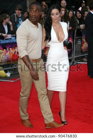 Simon Webbe and Maria Koukas arriving for The Inbetweeners, The Movie, film premiere at the Vue Leicester Square, London. 16/08/2011 Picture by: Alexandra Glen / Featureflash