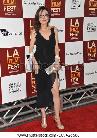 "Simona Caparrini at the LA Film Festival premiere of her movie ""To Rome With Love"" at the Regal Cinemas LA Live. June 15, 2012  Los Angeles, CA Picture: Paul Smith / Featureflash"