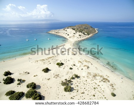 Simos Beach - stock photo