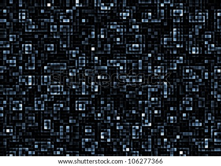 simple abstract background of mosaic blue tiles