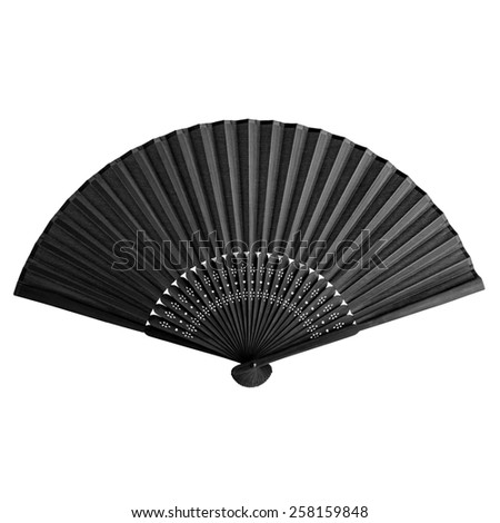 Simple and elegant folding fan isolated - stock photo