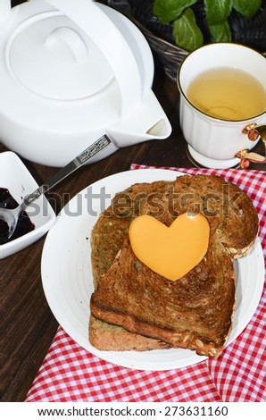 Simple and light wholesome and nutritious breakfast for healthy lifestyle / Healthy breakfast / For those on diet and working people in a hurry - stock photo