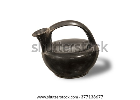 Simple Askos is the name of a type of ancient Greek pottery vessel used to pour small quantities of liquids such as oil. 5-4th century B.C.