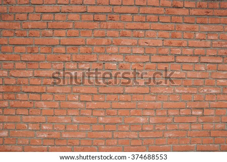 simple basic red clean brick wall background texture