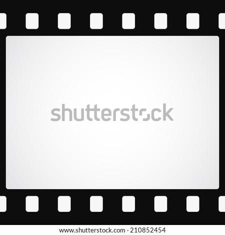 Simple black film strip background - stock photo