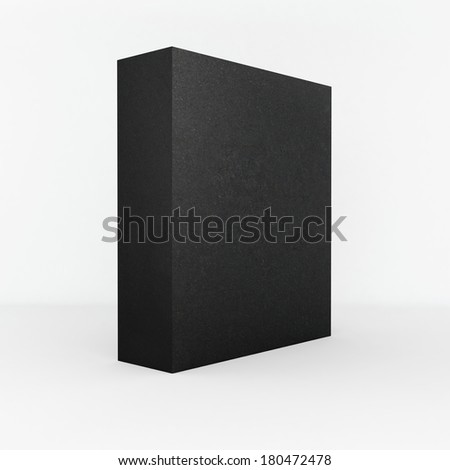 simple blank black matted box on white background