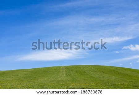 Simple blue green  horizon background