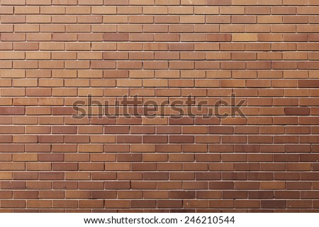 Simple brick wall texture. - stock photo