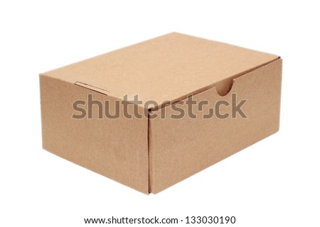 simple brown carton box isolated over white background