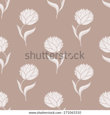 Simple brown pattern - stock photo