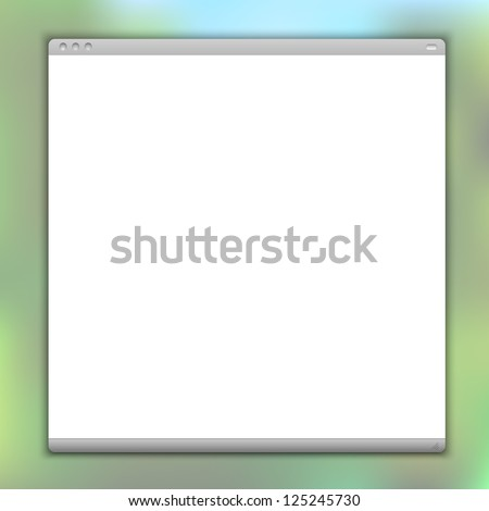 Simple browser window. Raster version - stock photo