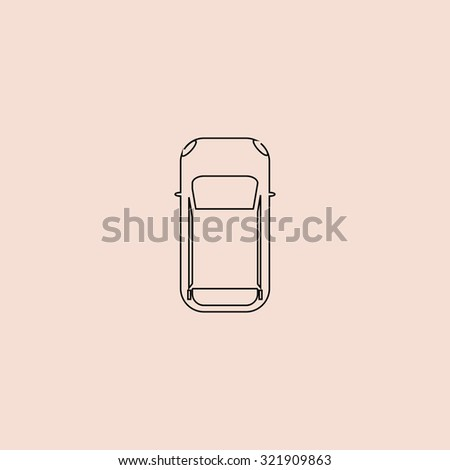 Simple Car Top View Outline Icon Stock Illustration 321909863 ...