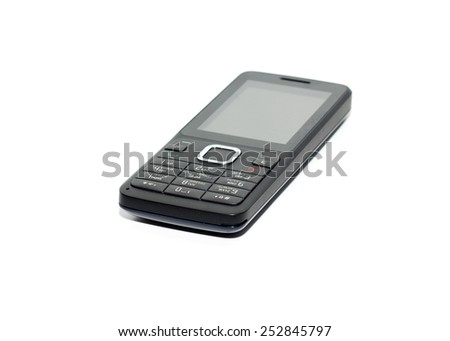 Simple cellphone isolated on white background