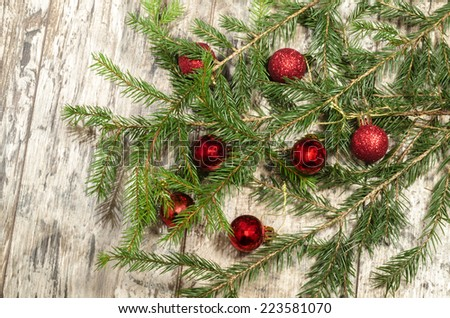 Simple christmas background for vintage postcards From series Christmas and New Year - stock photo