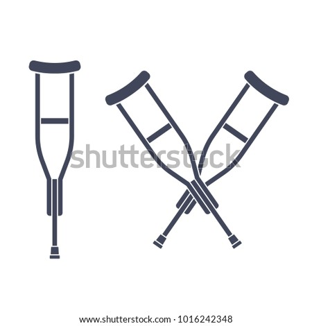 Crutches Stock Images, Royalty-Free Images & Vectors ...