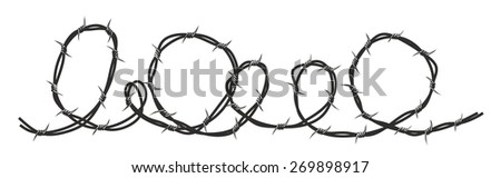 simple form of barbed wire as template