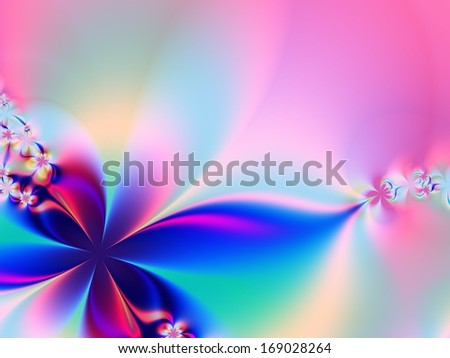 Simple fractal background - stock photo