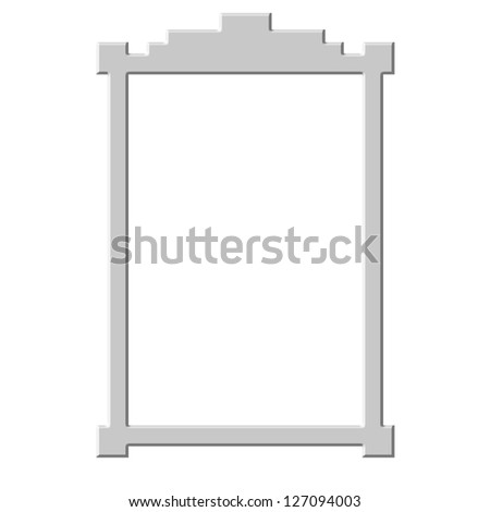 Simple frame on white background