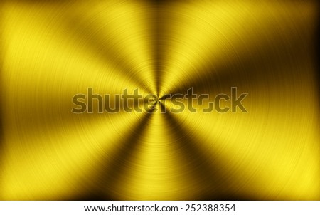 Simple golden metal background or texture - stock photo