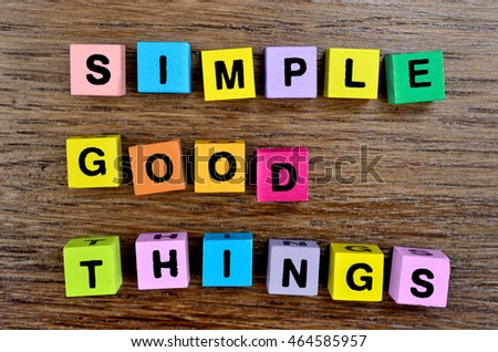 Simple Good Things on wooden table