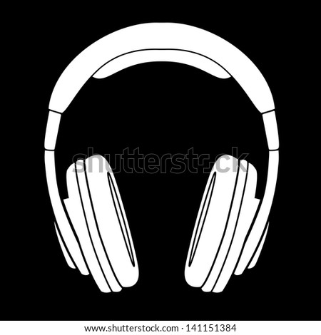 Headphones silhouette Stock Photos, Images, & Pictures ...