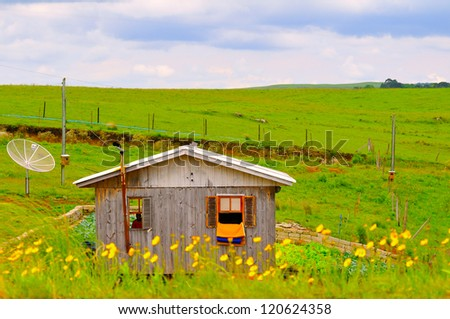 simple house - stock photo