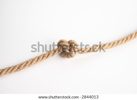 simple knot over white background - stock photo