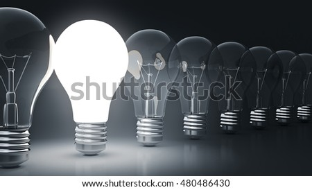 simple light bulbs. 3d rendering