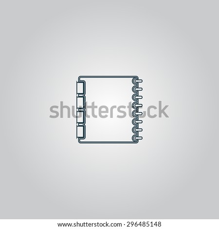 Simple organizer. Flat web icon or sign isolated on grey background. Collection modern trend concept design style  illustration symbol - stock photo