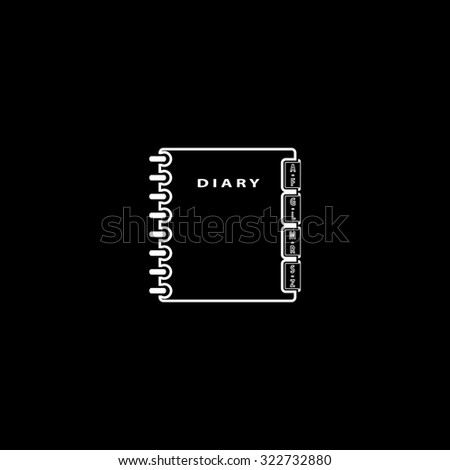 Simple organizer. Simple icon. Black and white. Flat illustration - stock photo