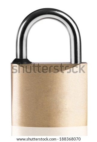 Simple padlock isolated on a white background - stock photo