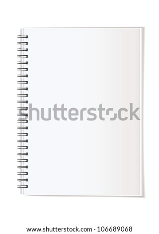 Simple paper office supplies note pad spiral bound - stock photo