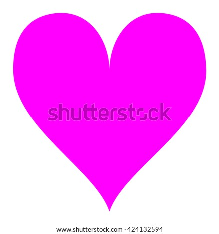 Simple pink heart isolated over a white background. - stock photo