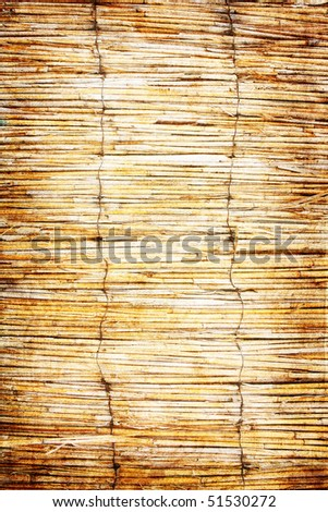 simple reed fence grunge background - stock photo
