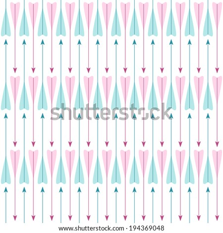 Simple retro pattern with arrows - stock photo