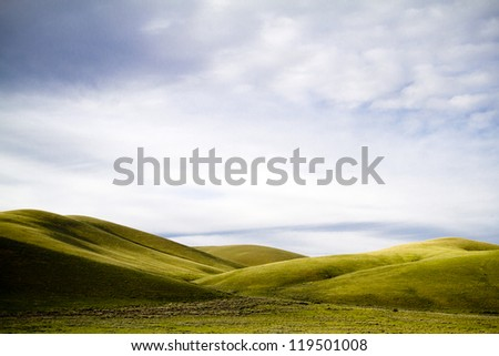 Simple Scenic Landscape - stock photo