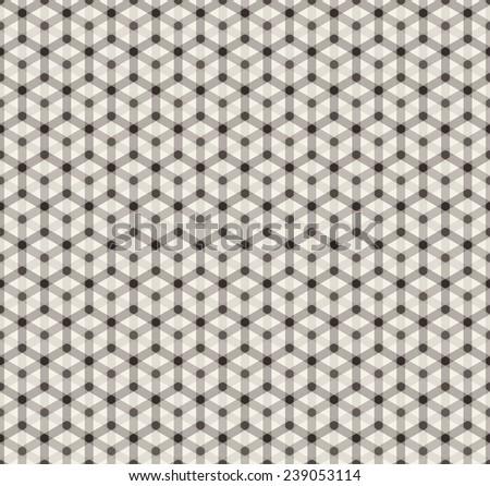 simple seamless hexagonal pattern - stock photo