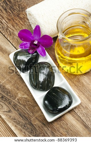 simple spa concept - stock photo