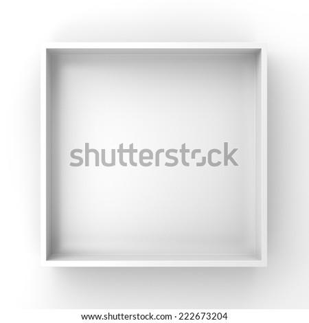 simple square frame or shelf - stock photo